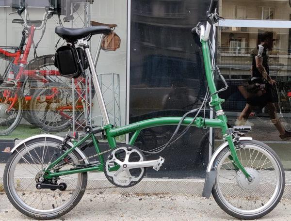 kit electrification velo brompton vae deplie vert - monspad